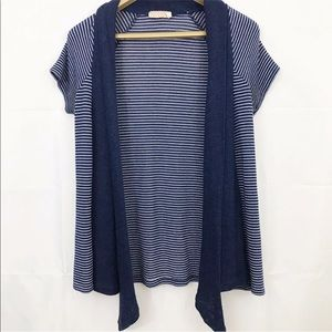 Pins And Needles Top Striped Open Front Cardigan